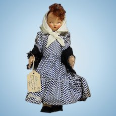 Vintage Spanish Cloth Doll Lenci Type TAF Lady (Talleres Arte Fuste)