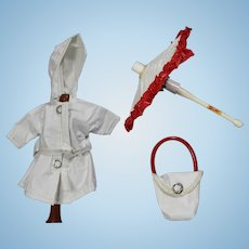 Vintage Vogue Ginny Doll HTF Raincoat Set - Umbrella Purse Coat