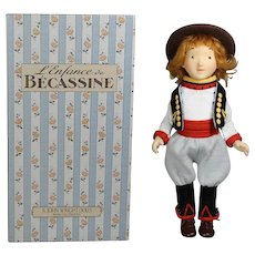 R John Wright Becassine JOEL Felt Doll Companion in Orig Box - Ltd Ed!
