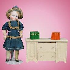 Vintage 1930s Dollhouse Doll Chest Drawers & Mini Books!