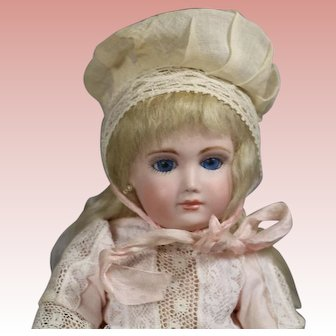 Antique Doll Bonnet for Cabinet Sized Doll!