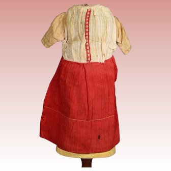 Antique Factory Bisque Doll Dress