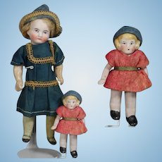 Antique All Bisque German Toddler Dollhouse Doll!