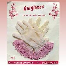 Vintage 1950s Cissy Dolgloves Doll Gloves on Orig Card!