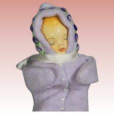 Precious Vintage Sleeping Baby Doll! Handpainted Face