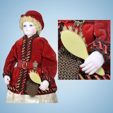 Antique French Fashion Doll Celluloid Brush!