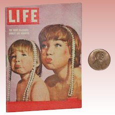 Darling Vintage 1959 Doll Sized Tiny LIFE Magazine - Just Adorable!