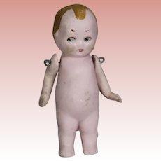 Antique All Bisque Sweet Googlie Eye Doll!