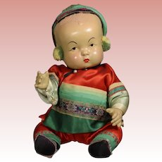Vintage Compo MING MING Chinese Baby Doll Quan Co