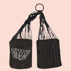 Lovely Antique Crochet Knitted Miser's Purse!