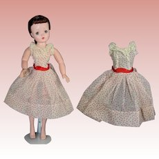 Rare! 1960 Tagged Mme Alexander CISSY Dotted Swiss Afternoon Sundress Dress!