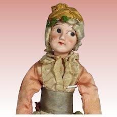 Antique 1920s Bisque Head Boudoir Doll w Bisque Hands & Feet