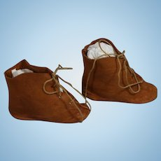Antique Brown Boots for French Fashion Doll!