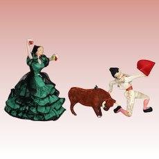 Vintage Klumpe Trio Spain Dolls - Dancer Matador Bull