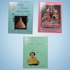 3 Madame Alexander Doll Reference Books!