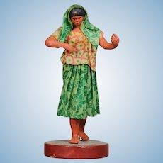 Antique Francisco Vargas Mexican Wax Figure Doll