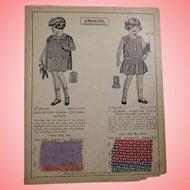 Vintage 1930s Child's Clothing Salesman Sample Card!