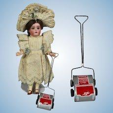 Vintage Tin Litho Doll Dollhouse Sweeper Vacuum!