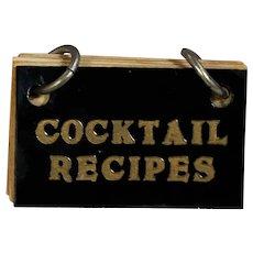 Vintage c1930s Bakelite Cocktail Recipes Tiny Mini Book!