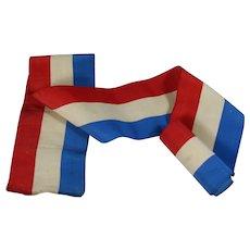Antique 2 Yards Red White Blue Flag Patriotic Ribbon Trim!  4th July!