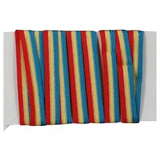 Vintage Small Patriotic Red White Blue Flag Trim! 4th of July!