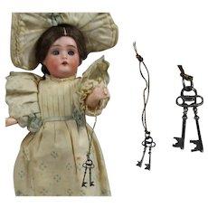 Darling Antique Set of Doll Keys! French Fashion Accessory!
