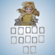 Lovely Vintage Metal Dollhouse Doll Frames - Perfect for Tintypes!