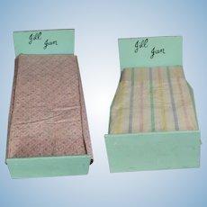 Vintage Vogue JILL and JAN Doll Bed w Bedding, Mattress!