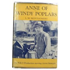 "EXCELLENT! Vintage 1936 HBDJ ""Anne of Windy Poplars"" LM Montgomery Movie Shirley"