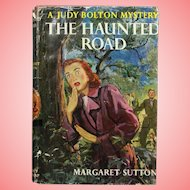"""Vintage 1954 HBDJ Judy Bolton Mystery """"The Haunted Road"""" Margaret Sutton Book!"""