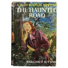 "Vintage 1954 HBDJ Judy Bolton Mystery ""The Haunted Road"" Margaret Sutton Book!"