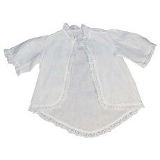 Beautiful Antique White Cotton Doll Shirt