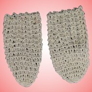 Lovely! Crochet Doll Socks for Bisque Baby w Cloth Bodies Bye-Lo Dream Baby