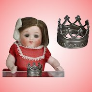 Darling Mini Metal Crown for Small All Bisque Doll