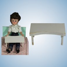 """HTF! Vintage 1961 Hall's Doll Size """"Breakfast in Bed"""" or """"Hospital"""" Tray!"""
