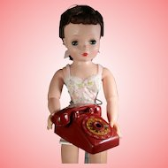 Vintage 50s Doll Size Red Advertising Telephone Denver CO Pencil Holder