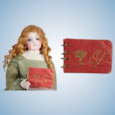 Darling Vintage French Doll Size Mini Red Photo Album Cote d'Azur