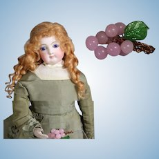 Vintage French Fashion Doll Size Glass Grapes