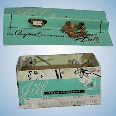 Vintage 1950s Vogue JILL Doll Watch & Charm Bracelet on Orig Card in Box!