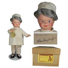 1936 Mme Alexander Dionne Quints Dr. Dafoe Doll w Orig Box & Orig Dafoe Autograph!