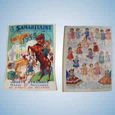 Vintage 1935 French Etrennes Dolls & Toys Catalog! La Samaritaine Dept Store