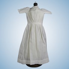"""Antique White Long Doll Dress - Suitable for China 20"""""""