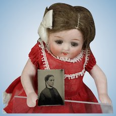 Antique Civil War Doll Size Tintype of Dolly's Great Grandma!