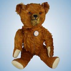 1930s Cinnamon Mohair American Teddy Bear w Growler! Knickerbocker