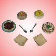 Darling Vintage DOLLY DEAR Dollhouse Doll Foods Etc!