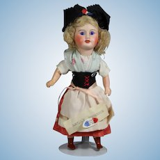 Antique Bisque French EDEN BEBE Doll Alsace w Tag!
