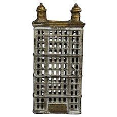 Antique Cast Iron Bank Skyscraper Highrise Building!