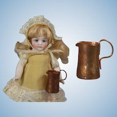 Vintage French Doll Copper Water Pitcher!