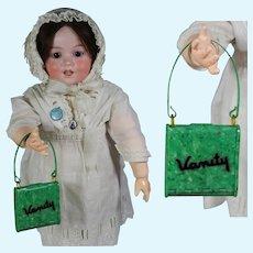 Antique c1920s Celluloid Vanity Doll Purse!