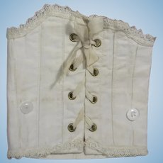 Beautiful Antique French Doll Corset!